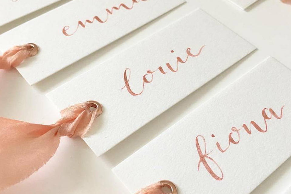 Printing, Stationery & Calligraphy Signs for weddings in Brittany