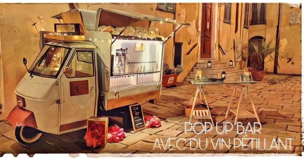 Sparkling Van | Pop Up Wedding Bar in the South of France