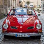 Vintage Wedding Car | Karmann Ghia Convertible for hire in France